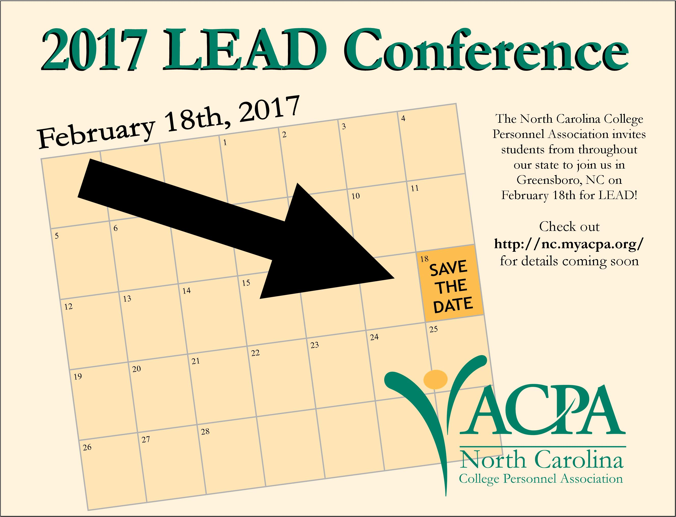 LEAD Conference save the date
