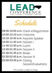 lead conf schedule